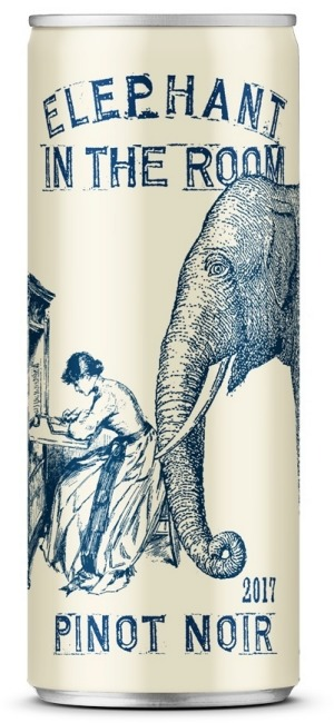 Fourth Wave Elephant pinot noir can.