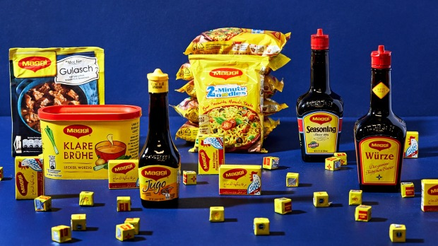 A range of international Maggi products.