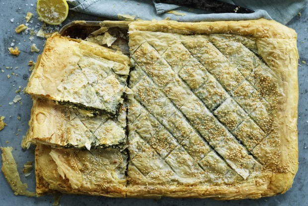 Danielle Alvarez's spanakopita is a seasonal vegetarian pie <a ...