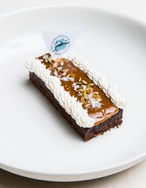 Cobia fat caramel slice by Josh Niland.