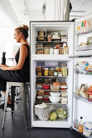 Sarah Wilson's stocked fridge from her latest book 'I Quit Sugar Simplicious Flow'.