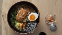 The ramen lunch special at Supernormal in Melbourne.