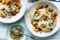 Adam Liaw's spaghetti with pumpkin, thyme and brown butter.