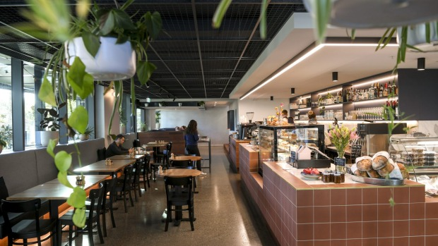 Toorak Tracktor cafe also features a deli section for supplies.