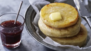 Dan Lepard's easy English muffins.
