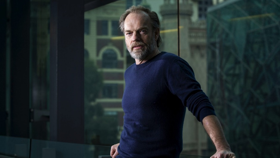 Hugo Weaving is happier talking about food than about acting.