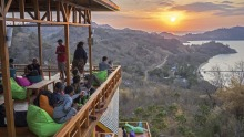 Enjoy uninterrupted views of the sunset at Tre360Bar in Labuan Bajo.