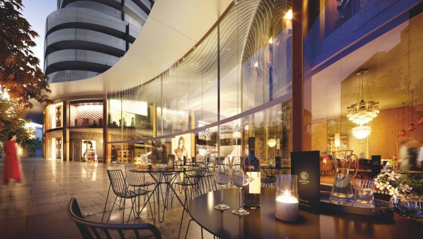 An artist's impression of a dining area at Capitol Grand.