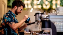 Coffee and tea are serious business at Cartel Coffee Roasters.