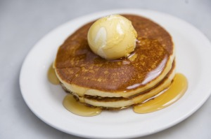 Classic short stack with butter.