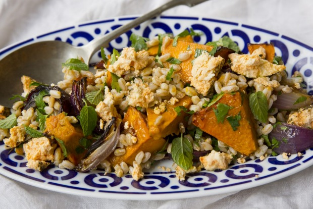 Frank Camorra's farro and roast pumpkin salad <a ...