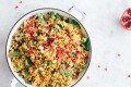 Rainbow rice works well as an impressive side dish to curries.