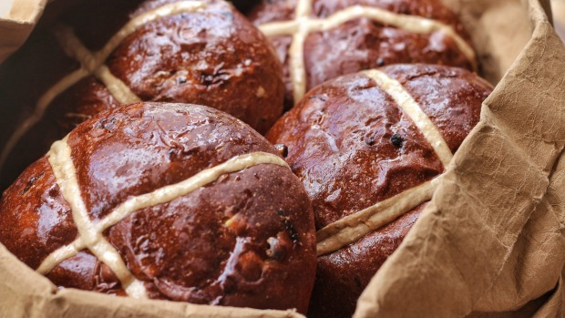 Bourke Street Bakery's hot cross loaves.