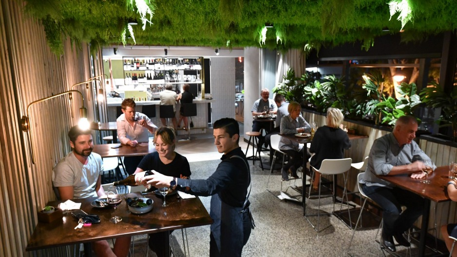 St Giles Wine Bar and Pantry features hanging greenery.