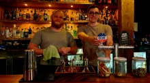 Travis Goddard (left) and Elliot Cryer at their new bar Soultrap.