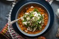 This butter chicken-inspired dhal can be made vegetarian - just swap the stock and hold the shredded chook (pictured as ...