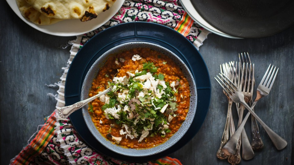 Everyone's favourite curry in another form: Butter chicken dhal.