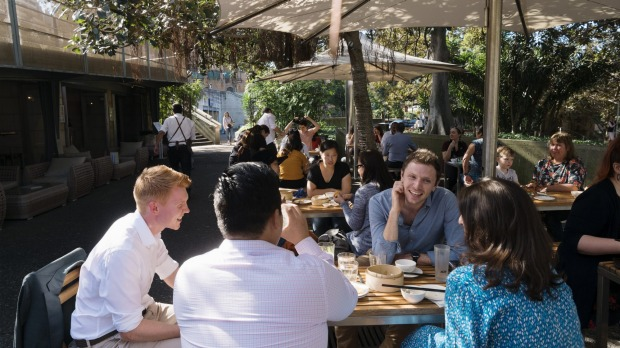 Outside under the Moreton Bay fig trees is the place to be at Bodhi.