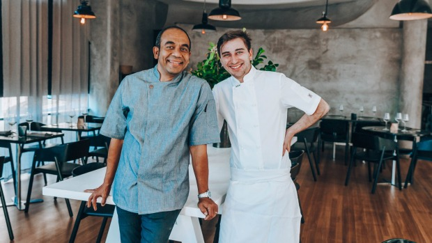 Opel Khan and head chef Benoit Lollichon at the soon to open Metisse.