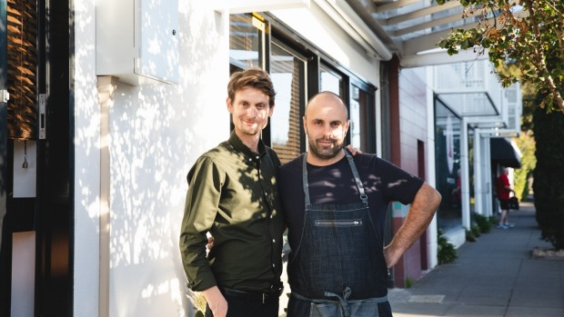 Aromi chefs and owners Paolo Masciopinto (right) and Salvatore Montella.
