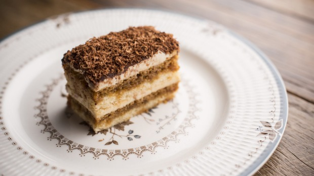 Tiramisu, made without eggs or mascarpone, is sweet, rich and giving.
