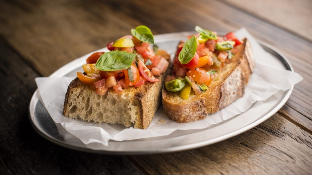 Heirloom tomatoes and basil bruschetta is a lovely last gasp of summer.
