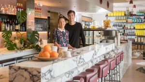 Siblings Katie and Michael McCormack at their new Fitzroy North eatery, Lagotto.