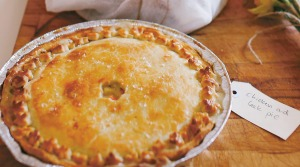 Proper country-style chicken pie.