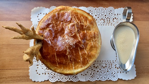 Nik Hill's roasted chicken pie at The Old Fitz in Woolloomooloo.