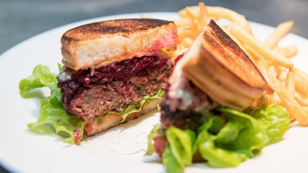 Real-deal Aussie pub food: the rissole sandwich.