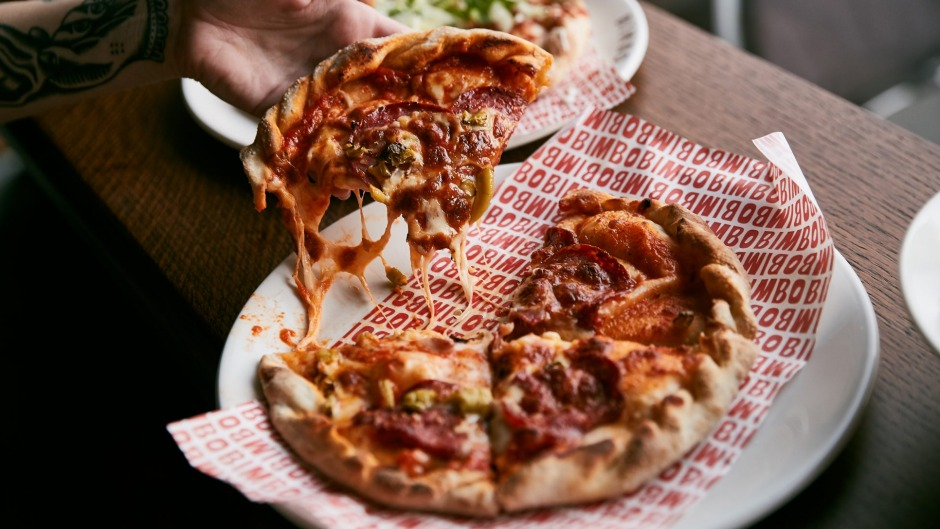 Pizzas are almost always on special at Bimbo for $4.