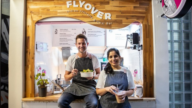 From left: Flyover Fritterie co-owners Patrick Frawley and Gunjan Aylawadi.