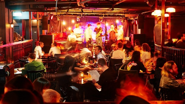 Music is on the menu at Mary's Underground in Circular Quay.