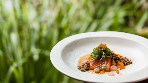Province-crossing Asian cuisine served at The Tamarind at Spicers Tamarind Retreat in Queensland.