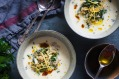 This lemon chicken hot yoghurt soup is a riff on the Greek avgolemono.
