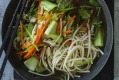 Kylie Kwong's vegetable and noodle soup.