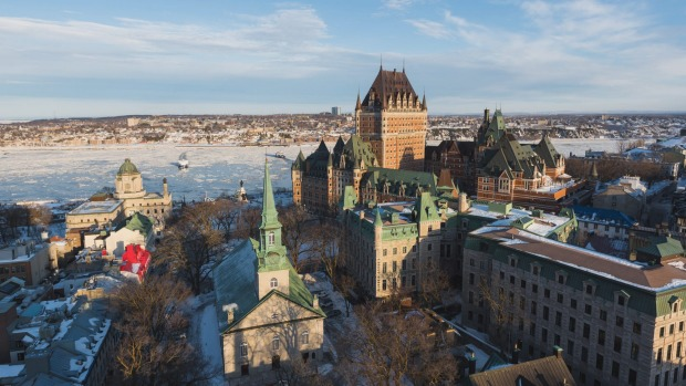 View of Old Quebec and Chateau Frontenac.