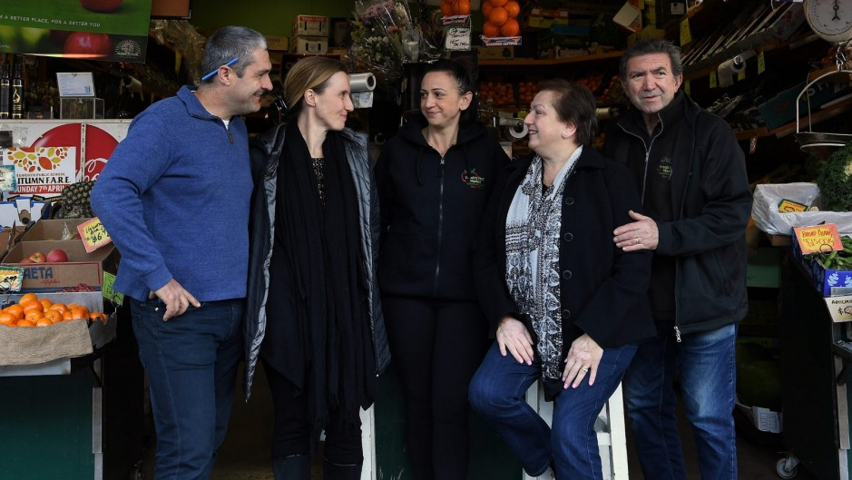 Frank Bonfante (right) with his wife Mary Rose Bonfante (2nd from right) and their daughter Cristina Zandes (3rd from ...