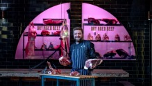 Chef and butcher Ryan Crawford at Argyle Smokehouse and Butchery, Rosebery.
