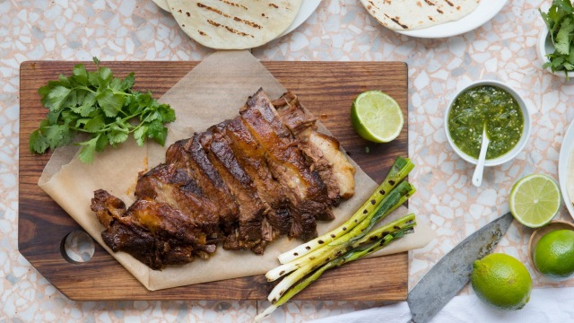 Slow-cooked beef brisket for tacos.