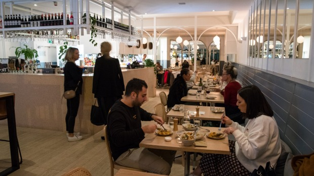 The light, bright and airy Osteria Coogee.