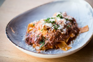 Go-to dish: Pappardelle with lamb shoulder and pecorino.