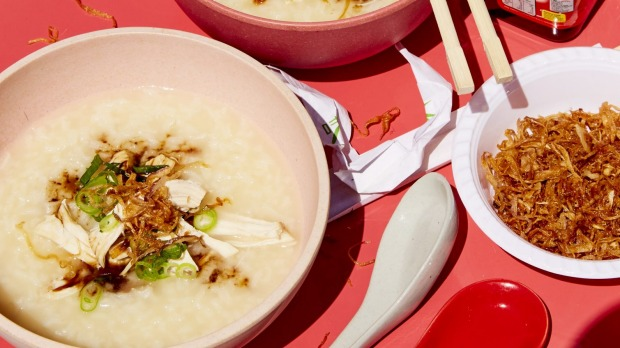 Chaoga (Chicken congee) fromStreet Food Vietnamby Jerry Mai. Photography ©Chris Middleton Recipe for Good Food June, 2019. Not to be reused.