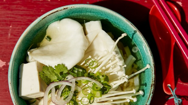 Phochay(Mushroom and tofu pho) fromStreet Food Vietnamby Jerry Mai. Extract from Street Food Vietnamby Jerry Mai, published by Smith Street Books Australia, RRP AU$35. Photography ©Chris Middleton Recipe for Good Food June, 2019. Not to be reused.