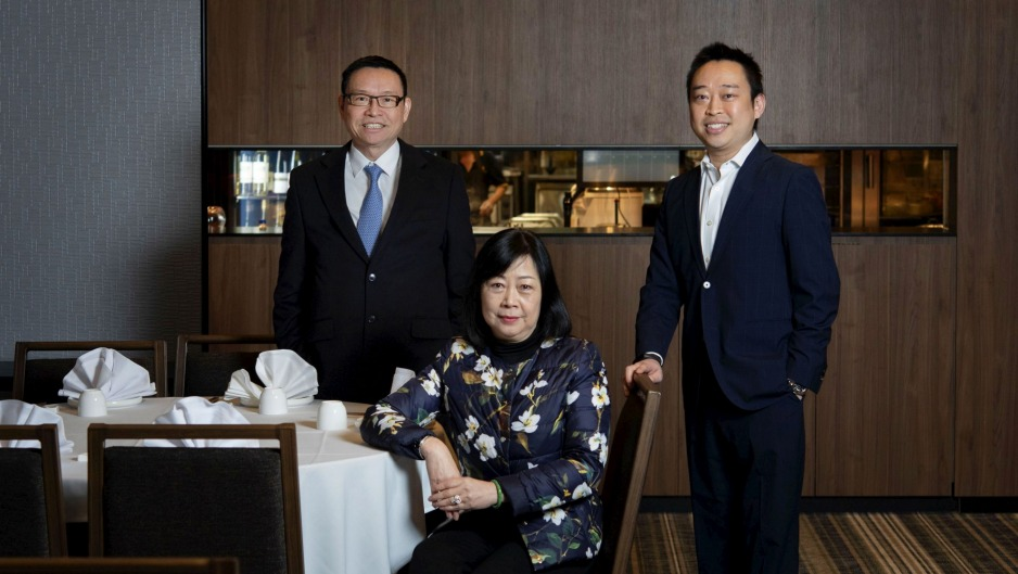 Golden Century owners Eric and Linda Wong, and son Billy, pictured in 2018.