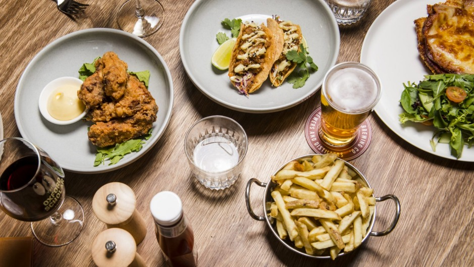 New dishes available for diners at the Oxford Scholar in Swanston street, Melbourne.