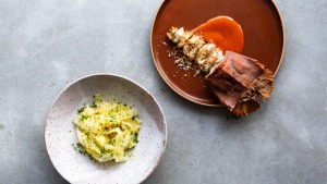 Go-to dish: Bay lobster with lemon and garlic.