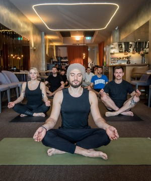 George Calombaris also encourages his Made Establishment staff to practice meditation.