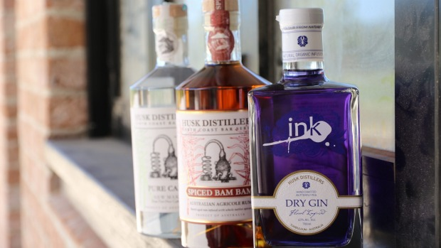 Husk Distilleries products include Ink Gin, coloured with Thai butterfly pea flowers.