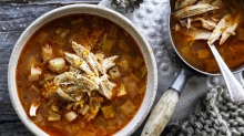 Adam Liaw's whole chicken and vegetable soup.